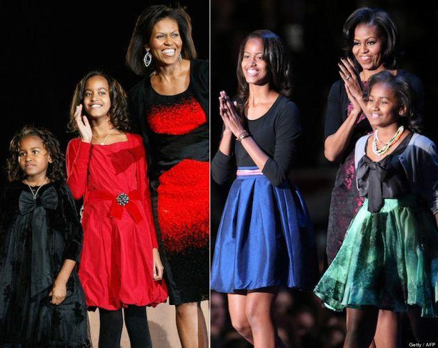 Hijas de Obama: así han cambiado Malia, Sasha y sus padres en cuatro años