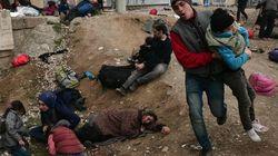 La policía macedonia usa gases lacrimógenos contra los