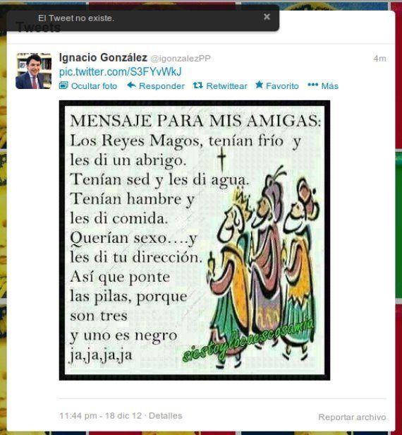 Ignacio González en Twitter: