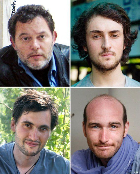 Liberados cuatro periodistas franceses secuestrados en Siria en junio de