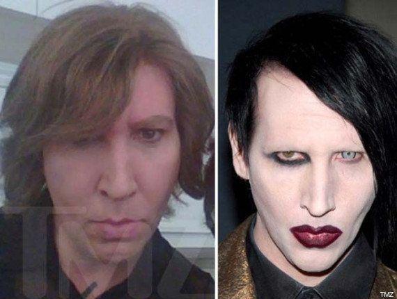 Marilyn Manson, sin maquillaje: irreconocible en el rodaje de su serie favorita