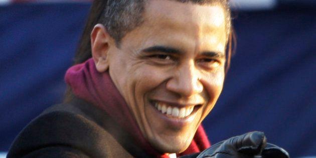 President Barack Obama walk son Pennsylvania Avenue near the White House in Washington, Tuesday, Jan....