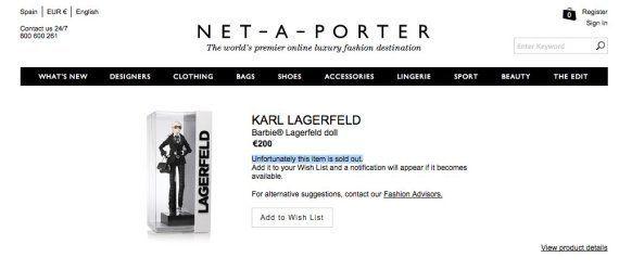 Barbie Karl Lagerfeld: la muñeca se viste como el diseñador de Chanel