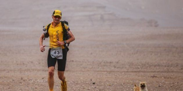 Dion Leonard corre una ultramaratón y una perrita callejera termina con él la