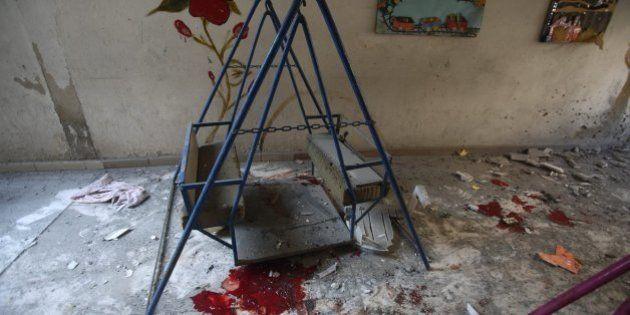 Mueren 6 niños en el bombardeo del régimen sirio a una guardería cerca de