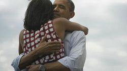 Por qué y dónde se dieron los Obama el abrazo más retuiteado de la