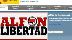 La página web de España en la ONU,