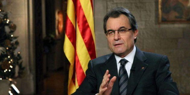 Artur Mas pide a 2013 que Cataluña pueda decidir en libertad