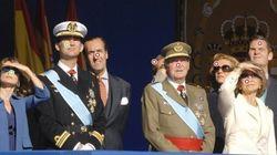 La familia real, en el desfile del 12 de octubre: el palco, cada vez más vacío (FOTO