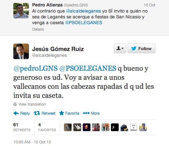 El alcalde de Leganés sobre su tuit: