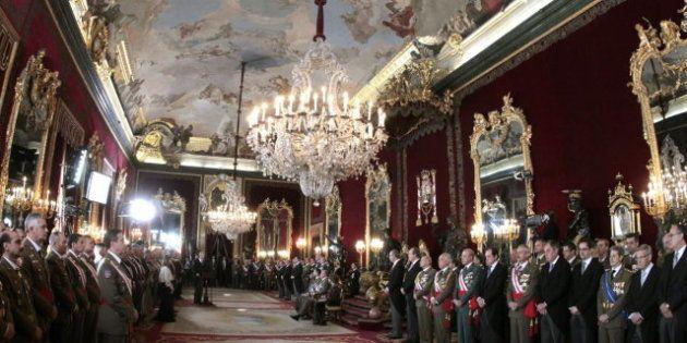 Empleados de Patrimonio Nacional protestan frente al Palacio Real: