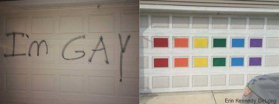 La maravillosa respuesta de una madre a un graffiti homófobo contra sus