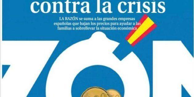 La portada de 'La Razón' dedicada a la bajada de su precio vuelve a encender a Twitter