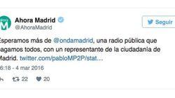 Enfado en Ahora Madrid por estos comentarios a un concejal en la radio
