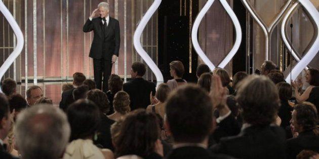 Bill Clinton en los Globos de Oro 2013, una de las sorpresas de la gala