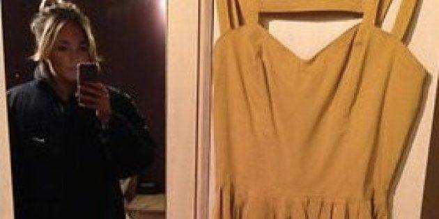 Quería vender su vestido... y colgó su foto desnuda en Ebay por error