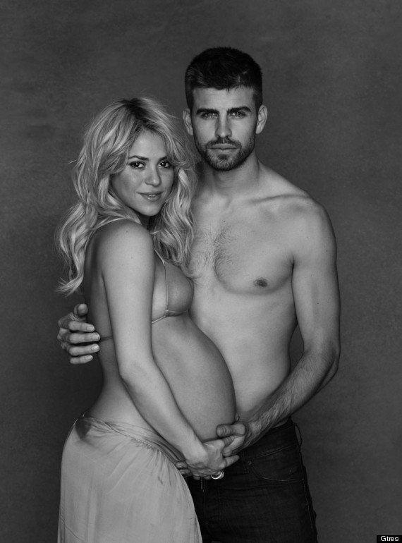 Famosas embarazas que desnudaron su barriga: de Shakira a Demi Moore, Cindy Crawford, Claudia Schiffer...