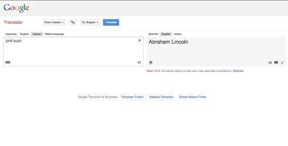 Jordi Pujol es Abraham Lincoln, según el traductor de