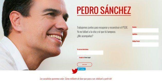 Pedro Sánchez ha vuelto: crea una web para simpatizantes y... se le