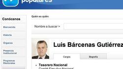 El PP borra hoy de su web que Bárcenas es tesorero del