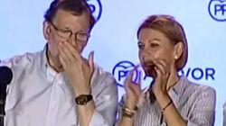 Rajoy tras un pequeño incidente bajo el balcón de Génova:
