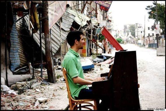 El 'pianista de Yarmouk' también ha escapado como refugiado a