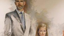 Así es el primer retrato oficial de Felipe VI junto a la princesa