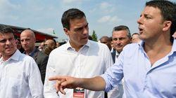 ¿Qué hacen juntos Pedro Sánchez, Manuel Valls y Matteo