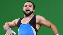 El 'zapateao' flamenco de Nihat Rahimov tras ganar una medalla de