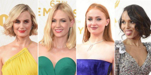 Los mejores vestidos de los Emmy 2015: del mono verde de January Jones al vestido blanco de Viola