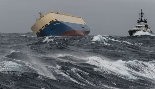 Las fotos del carguero que está a la deriva en el Golfo de