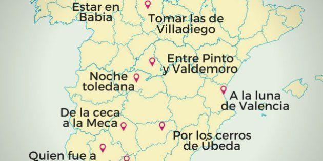 El origen de nueve dichos y expresiones que mencionan lugares españoles (MAPA