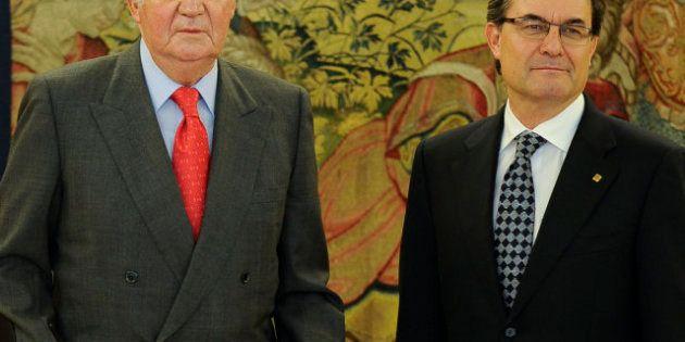El rey se reúne con Artur Mas una semana después de aprobar la declaración