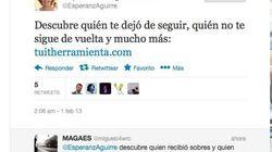 Mira el primer tuit de Aguirre tras el escándalo