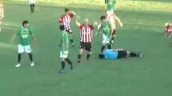 Un jugador de fútbol mata al árbitro y se da a la