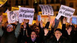 Protestas ante las sedes del PP: