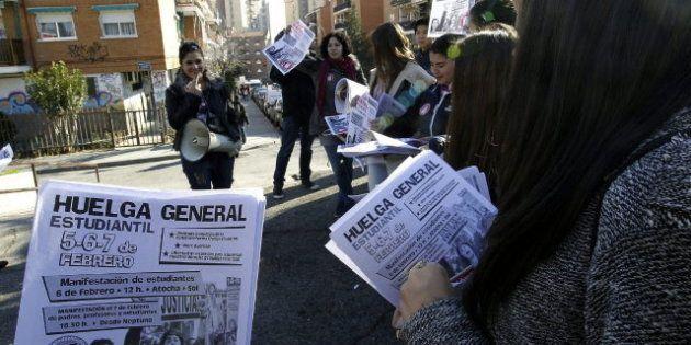 Madrid lidera con un 80% el seguimiento de la huelga contra Wert, según los
