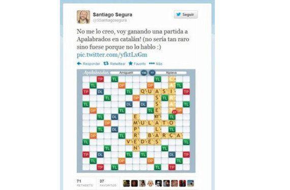Santiago Segura la lía: Publica en Twitter por error su nombre de usuario en 'Apalabrados'