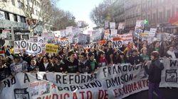 Miles de estudiantes, contra la reforma educativa y los recortes