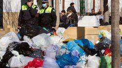 Huelga de basura en Sevilla: 7.000 toneladas, 320 contenedores