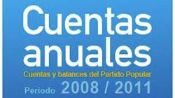 El PP publica sus cuentas desde 2008