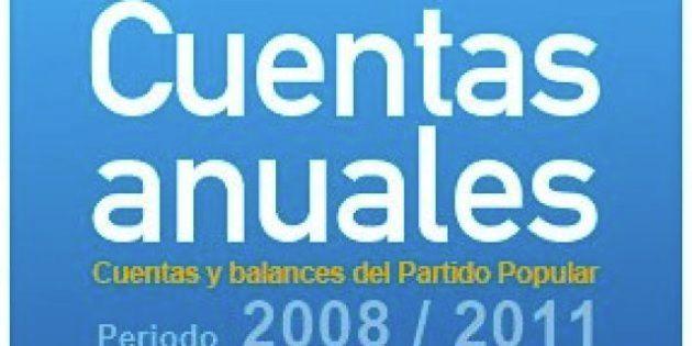 El PP publica las 'cuentas A' del partido entre 2008 y 2011
