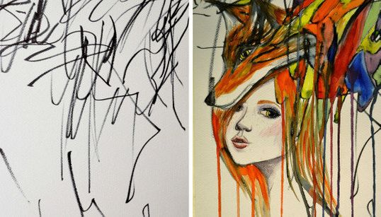 Esta madre convierte los garabatos de su hija en obras de arte