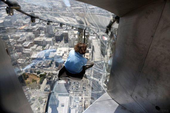 El tobogán más aterrador del mundo está en un edificio de Los