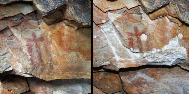 Destrozan una pintura rupestre declarada Patrimonio de la Humanidad en Jaén