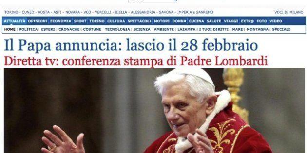 El papa dimite: la renuncia de Benedicto XVI en los medios de comunicación