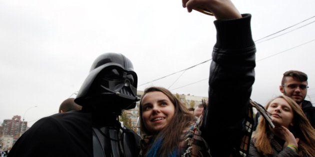 Darth Vader es una inspiración en las fotografías de las redes