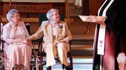 Estas dos nonagenarias se casan tras 72 años