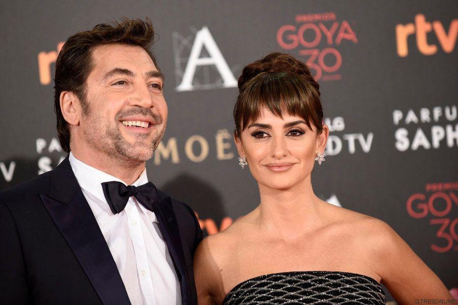 Penélope Cruz y Javier Bardem, en los Goya 2016: la nominada por 'Ma ma', de