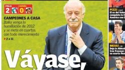 Las duras portadas tras la derrota de España en la